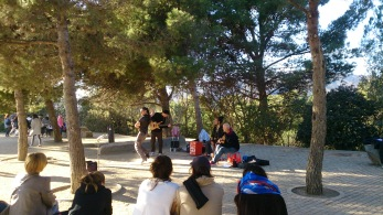 Street flamenco in Park Guell