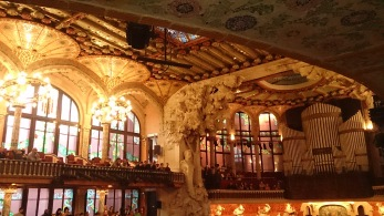 Flamenco in the beautiful Palau de la Musica Catalana